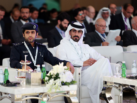 Ministers, dignitaries and senior leadership from international and regional organizations attending the opening ceremony of Qatar Sustainability Summit.
