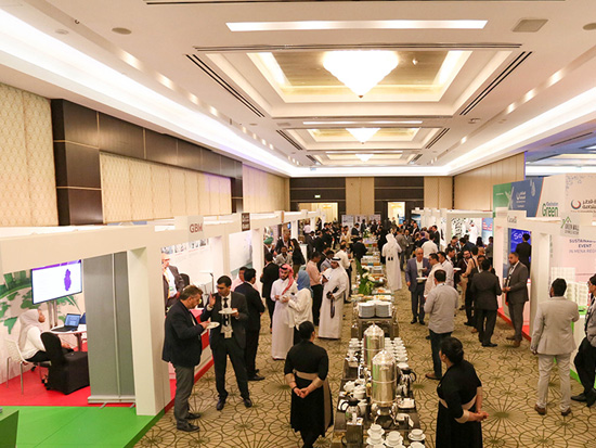 GORD Sponsors at Qatar Sustainability Summit exhibiting their green products and services.